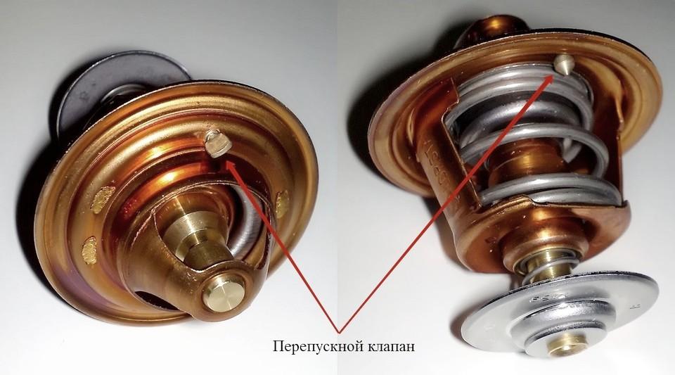 Перепускной клапан термостата